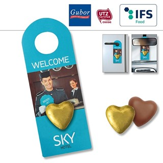 Promo Door-Tag with chocolate heart