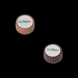 Logobonbon van puurmelk chocolade