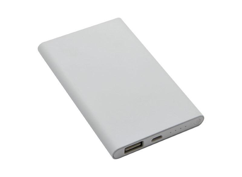 Witte aluminium powerbank, 4000 mAh