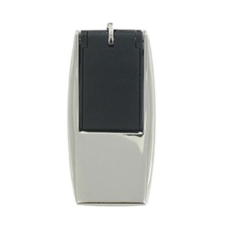 Stylish flat USB flash drive with hinged metal fra