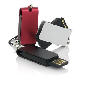 Small USB flash drive made of anodised aluminium w