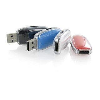 USB flash drive with colourood insert and sliding m