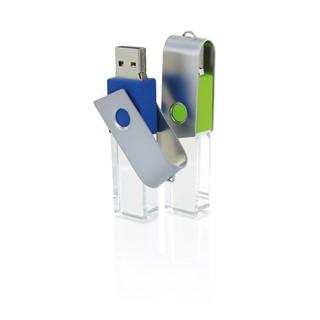 High quality USB stick made of hand-polished glass
