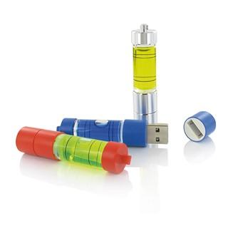 Unique USB stick made of aluminum with illuminated
