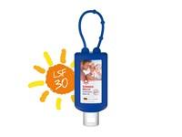 Zonnemelk, Hangflacon 50 ml (blauw), Body Label