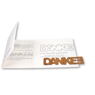 Thank you Card 'Danke', incl 1-4 c digital printin