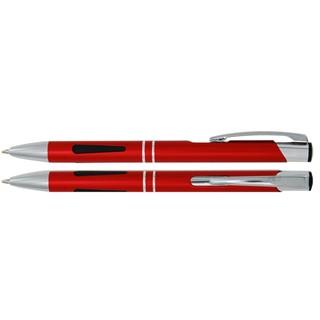 Aluminium balpen grip rood