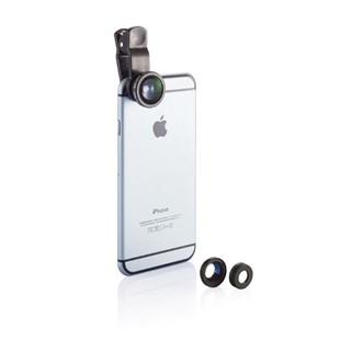 3-in-1 lens voor mobiele telefoon, zwart