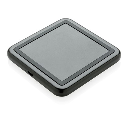 licht up logo 5W draadloze oplader, zwart
