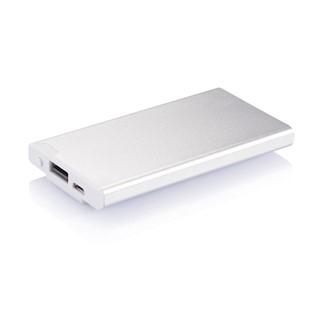 2500 mAh powerbank met clip, zilver