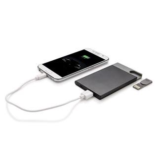2500 mAh powerbank - 8 GB USB, zwart