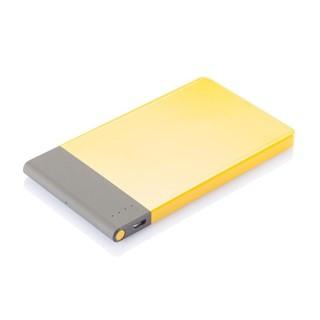 4600 mAh ultra dunne powerbank, geel