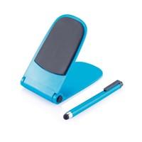 Push telefoonstandaard met touch pen, rood