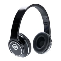 Hoofdtelefoon en speaker, zwart