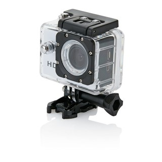 Action camera inclusief 11 accessoires, zwart