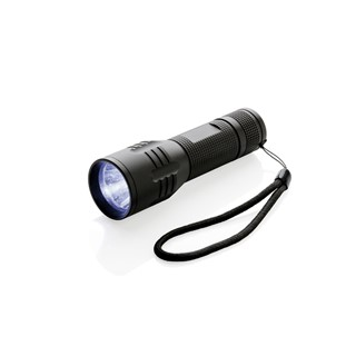 3W CREE zaklamp medium, zwart