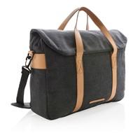 Canvas laptop tas PVC vrij, zwart