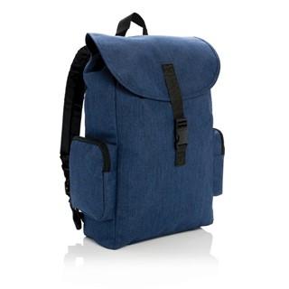 15 Laptop rugtas met buckel sluiting, marineblauw