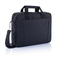 PVC vrije 15,4 exhibition laptop tas, zwart