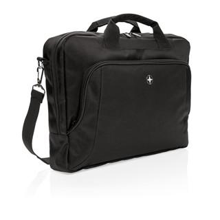Swiss Peak Deluxe 15 laptop tas, zwart