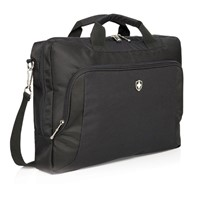 Swiss Peak Deluxe 15 laptop tas, zwart