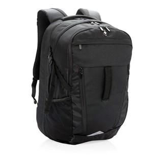 15 outdoor laptop rugzak met regenhoes, zwart