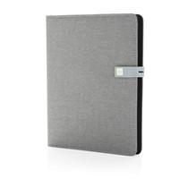 Kyoto A5 notitieboek met 16GB USB, grijs