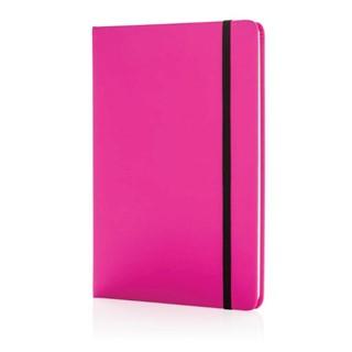 A5 standaard hardcover PU notitieboek, roze