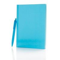 Standaard hardcover A5 notitieboek met X3 pen, zwa