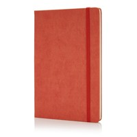 Deluxe hardcover PU A5 notitieboek, zwart