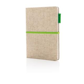 A5 notitieboekje in jute katoen
