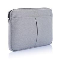 PVC vrije laptop hoes 15, grijs
