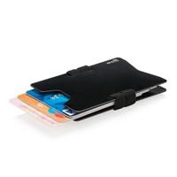 Aluminium RFID anti-skimming creditcard houder, zwart