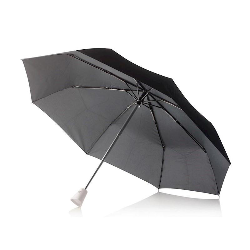 Automatische paraplu met gekleurd handvat