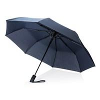 Deluxe 21 opvouwbare auto open paraplu, zwart