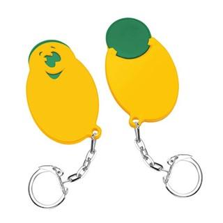 Winkelwagenmunthouder met 1-muntje Smiley