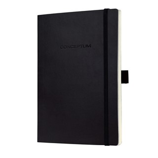Notebook CONCEPTUM®, zwart , Softcover, squarood, ap