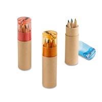 Potlodendoosje met 6 gekleurde potloden