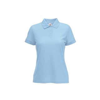 6535 Lady Fit Polo Fruit of the loom