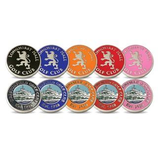 5 x 50 Pack 24mm Metalen ballmarkers met meerkleur