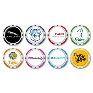 40mm Monaco Poker Chip Ballmarker with Logo Doming