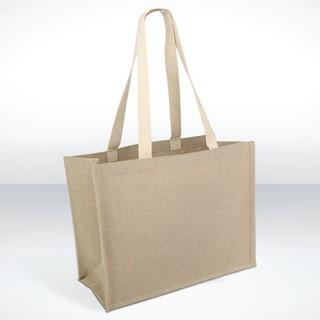 Sherborne - Tasche aus einer Jute- und Baumwoll-Mi