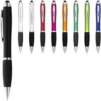 Nash stylus balpen met gekleurde houder en zwarte