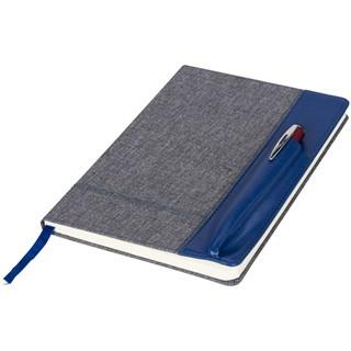 A5 heatherood notitieboek met kunstlederen kaft
