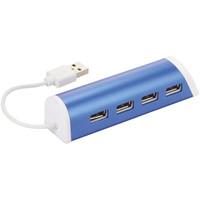 Aluminium 4 poorts USB hub en telefoonstandaard