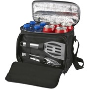 2 delige barbeque set met koeltas
