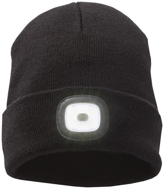 Mighty LED knit beanie, zwart