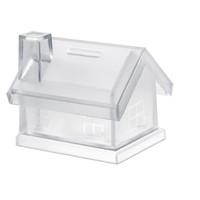 Transparante spaarpot huis