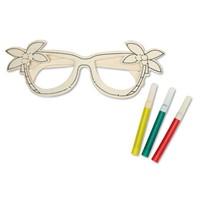 Houten bril dat je zelf kan inkleuren
