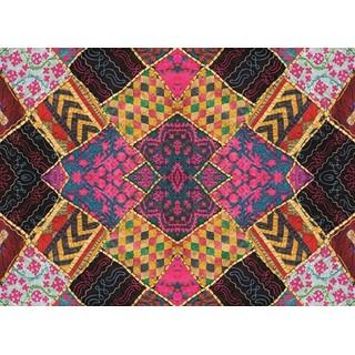 Exclusive Edition Tapijt Kleine Vierkanten - Patchwork Textiel  Multi Kleur